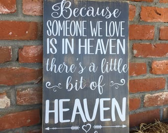 There'a a little bit of heaven in our home sign