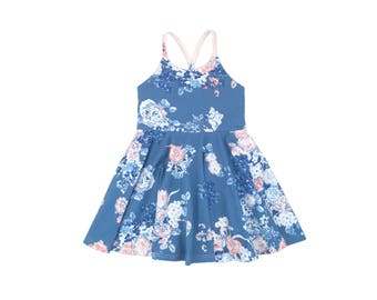 Dala Blue Floral Festival Dress