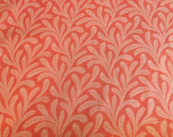 Coral fabric by the yard - coral floral fabric - coral flower fabric - tropical fabric - island fabric #17085