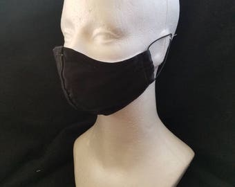 Black Satin reusable face mask
