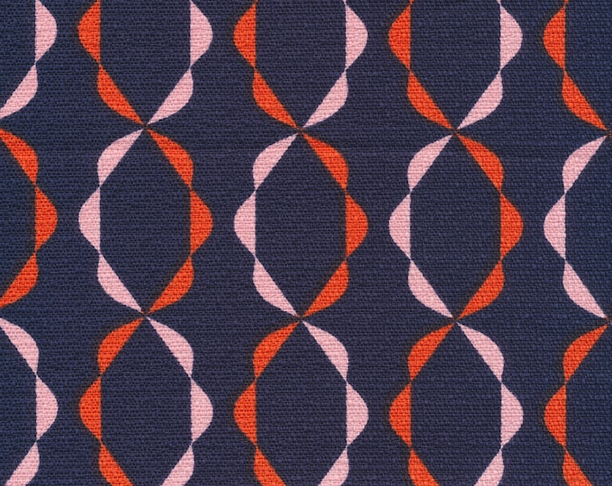 Twist of Fate in Orange- Holding Pattern by Jessica Jones - Cloud 9 Bark Cloth Cloud9