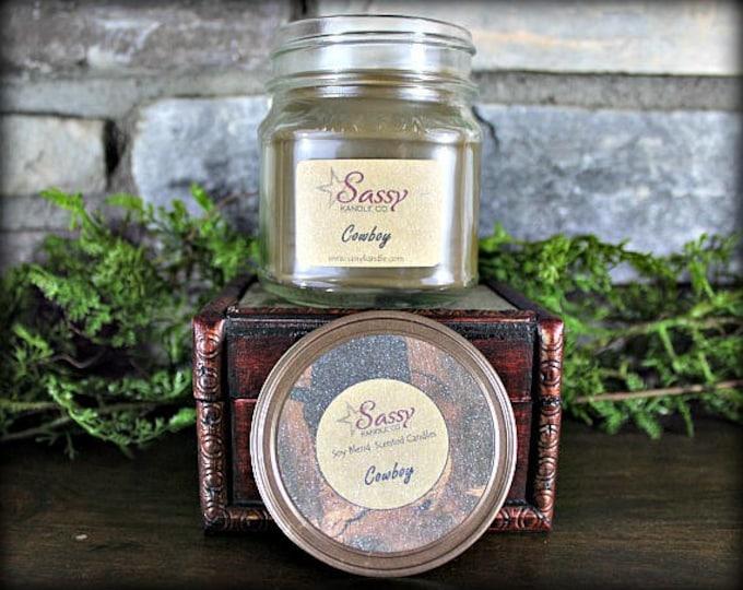COWBOY | Mason Jar Candle | Sassy Kandle Co.