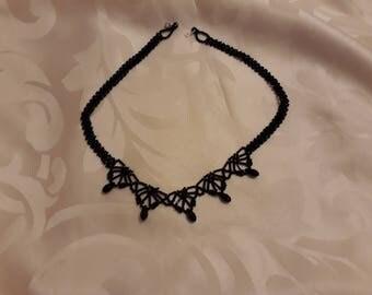 Elegant Black Beaded Necklace