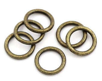 8MM Antiqued Bronze Closed Ring/Connector