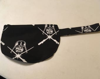 Black fabric Star Wars Darth Vader Wristlet