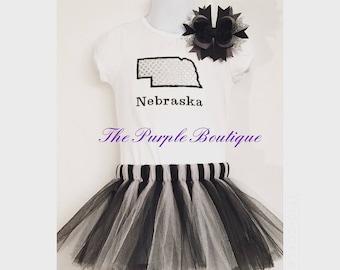 Nebraska Shirt Tutu hair bow shirt all sizes 12, 18, 2t, 4t , 5