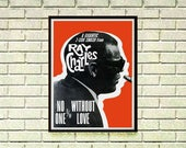 Reprint of a 60/70's Ray Charles Jazz Music Concert Poster