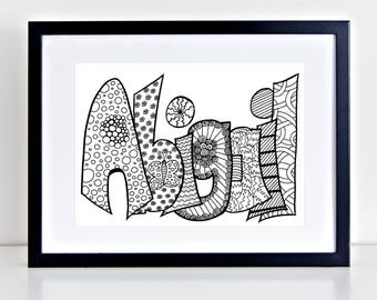 Abigail name art Etsy