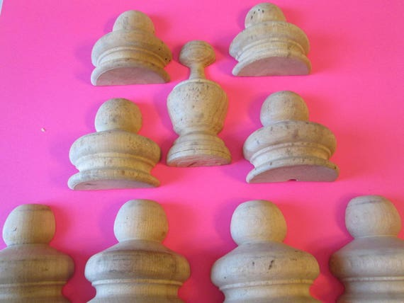 9 Assorted Unpainted Wood Clock/Furniture Ornaments - Steampunk Art - Crafts