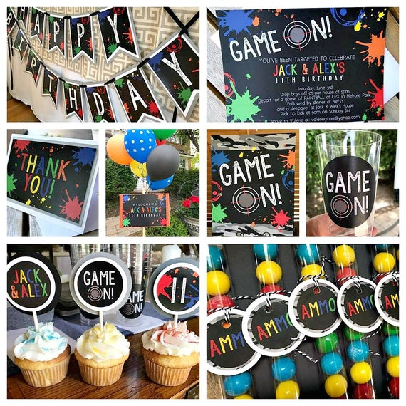 10 Images About Teen Science Themed Bedrooms On Pinterest: PAINTBALL PARTY DECORATIONS Paintball Birthday Decor