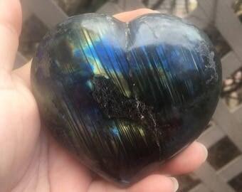 3 Inch Labradorite Heart