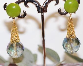 """Lengthh """"Christmas tree"""" earrings"""