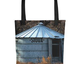 Tote bag - Red Silo Original Art - Sioux Bin