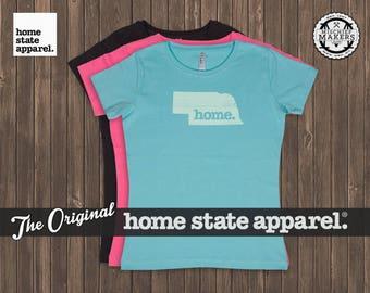 Nebraska Home. T-shirt- Women's Relaxed Fit