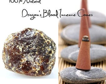 ON SALE Dragon's Blood Resin All Natural Makko Incense Cones