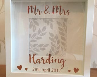 Wedding gift box frame