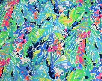 "18"" x 18"" Lilly Pulitzer Dobby Cotton Fabric Multi Purrfect"