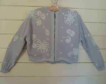 Vintage 50's Beaded Sweater w/Lining 1950's