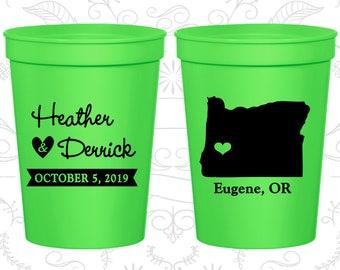 Neon Green Stadium Cups, Neon Green Cups, Neon Green Party Cups, Neon Green Wedding Cups (136)