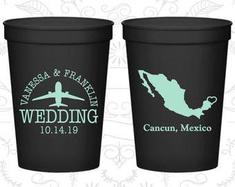 Black Stadium Cups, Black Cups, Black Party Cups, Black Wedding Cups (184)