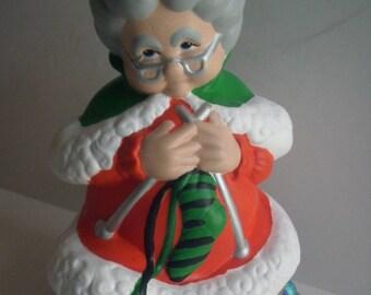 Mrs Claus Figurine Etsy