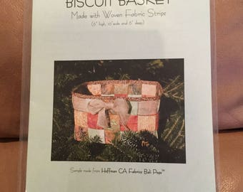 Biscuit Basket Woven Fabric Quilting Pattern / sewing patterns/ quilting patterns