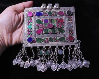 P1000 - Vintage Kuchi Pendant - Afghani Ethnic Belly Dance Jewelry Design Pendant