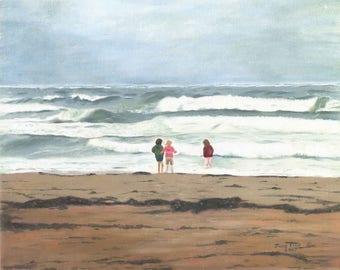 Girls on the Beach - Print