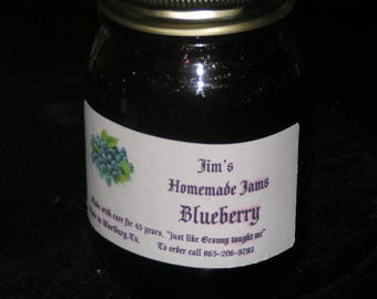 Homemade Blueberry Jam 16oz.