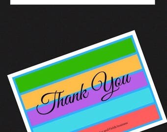 Rodan and Fields inspired Thank you card - Single sided digital download