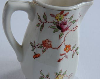 Vintage Pitcher - Large Creamer Made in Japan Oriental English - Hand Pitcher