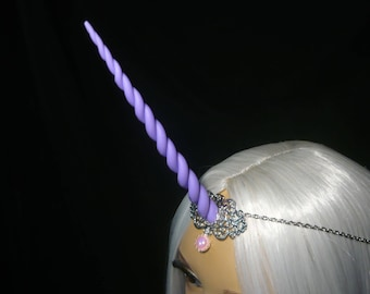 Lilac Shine Unicorn - Tiara with handsculpted lilac-lavender purple Horn