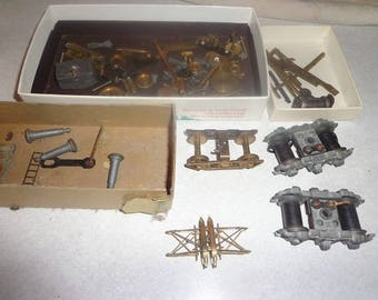 HO scale loco trucks,wheel sets,pantograph,and lots of misc parts