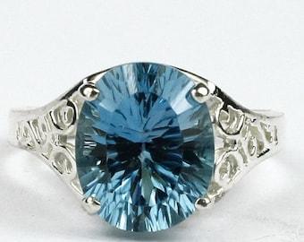 On Sale, 30% Off, Swiss Blue Topaz, 925 Sterling Silver Ladies Ring, SR057
