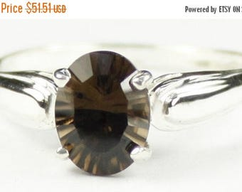 On Sale, 30% Off, Smoky Quartz, 925 Sterling Silver Ring, SR058