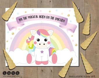 This is a graphic of Lively Pin the Tail on the Unicorn Printable