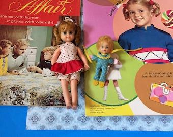 Vintage 1960s Whitman Paper Doll Buffy Book,  Family Affair Comic , Buffy Doll & Mrs. Beasley Doll LOT