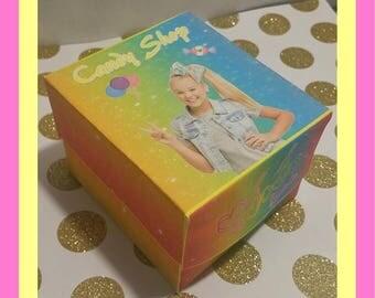 Jojo Siwa cupcake box, DIY, candy shop,  birthday party instant download, printable, party favor
