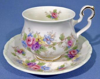 Royal Albert Colleen Tea Cup & Saucer Set Made in England 1986 ~ 1992