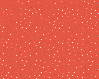 Glamper-licious Dots Red Yardage C6316-Red by By Samantha Walker for Riley Blake Designs