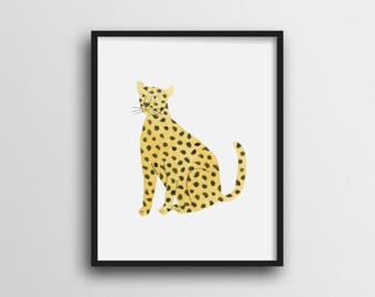 Minimalist Leopard Wall Art Print Home Decor 11x14 8x10
