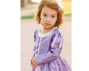 Rapunzel Princess Dress in a Magically Adorable Long Sleeve | Toddler | Youth