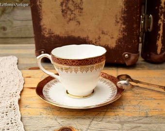 Vintage Duchess Bone China England 'Winchester' Matching Cup and Saucer Retro English Chinaware Vintage Afternoon Tea Time Collectible