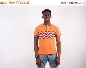 Closing SALE - RARE 90s NIKE Orange Swoosh Golf Shirt - Nike Orange Swoosh - Nike Men's Shirt  - 1550