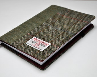 HARRIS TWEED Hobonichi notebook cover - Color Block (notebook NOT included)