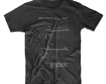 Table Saw Patent T Shirt, Woodworking Tools, Tool Shirt, Carpentry, Mens Gifts, PP0999
