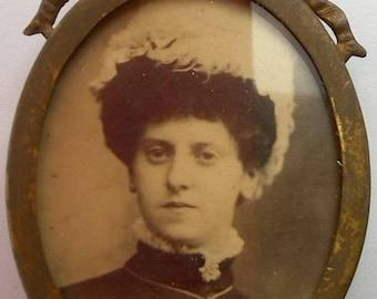 Antique Miniature Metal Photo Frame