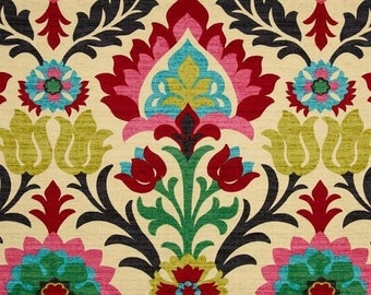 Southwestern Fabric, Mexican Fabric, Tela Mexicana, Cinco de Mayo Fabric, Santa Maria Desert Flower Drapery Fabric - By the yard