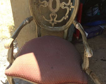 Very sturdy pair of french provincial arm chairs