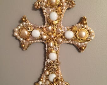 Beautiful jewelry embellished cross